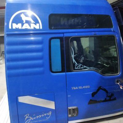 Кабина МАН ТГА 18.480 синяя XLX