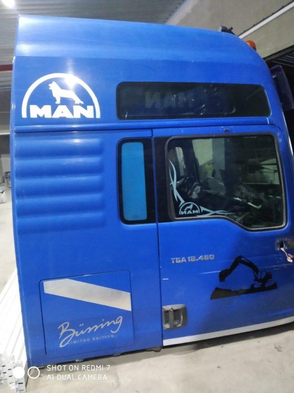 Фото кабина ман тга 18.480 синяя xlx
