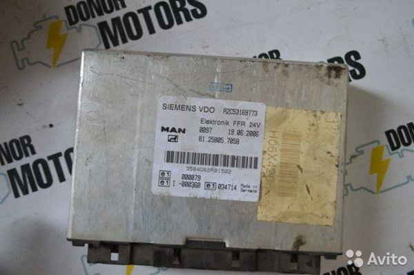 Фото блок управления электронный vdo ffr man tga 81258057058
